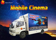 8 / 9 / 12 Seat Theme Film Mobile 5D Cinema With Electric / Hydraulic Platform